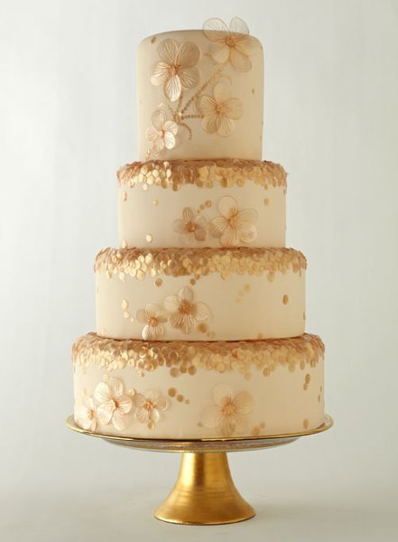 Gold Wedding Cakes, Wedding Cakes Photos by Cake Art ...