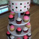 130x130 sq 1312998860380 babyshowercupcaketower
