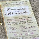 Vintage Old Style Long Wedding Invitation. The colors and words can be changed to match your wedding!