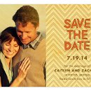 130x130 sq 1348511819463 chevronkhakisavethedatewoodweddingd