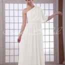 Barbara Gown - 80487  This long sheath bridesmaid dress is sophisticated and modern. The entire dress is made of beautifully draped chiffon that is light and airy.