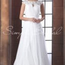 Marion Gown - 80356  The Marion gown is perfect for the bride who wants to feel like an ethereal goddess. The soft chiffon is pleated perfectly and topped with a decadent beaded bateau neckline and cap sleeves.