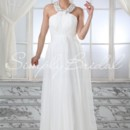 Opal Gown - 80334  The Opal gown is perfect for the bride who wants to feel like an ethereal goddess. The soft chiffon is pleated perfectly and topped with a decadent beaded jewel neckline.