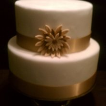 220x220 sq 1341894360534 golddaisyweddingcake