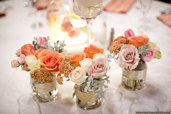 Vintage Chic Centerpieces Wedding Flowers Photos By Enchanting Events