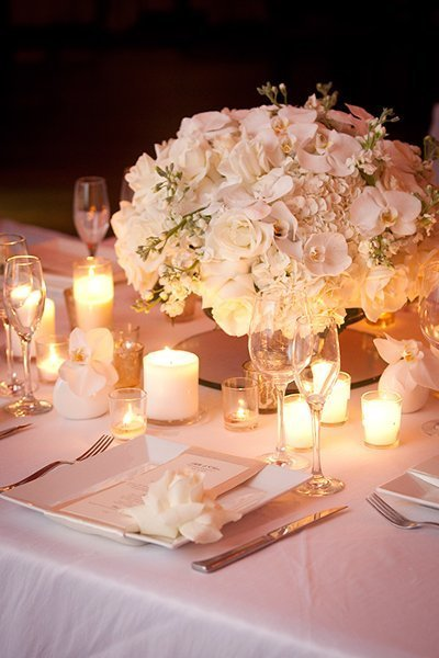 Classic centerpieces wedding flowers photos by festivo for Simple elegant wedding decorations