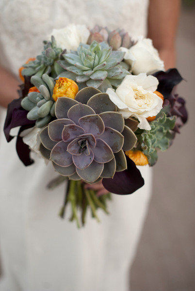 Modern Succulents Wedding Flowers Photos By Laura Segall Photography