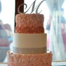 130x130 sq 1394738083687 ombre buttercream rosette cake with rhinestone tri