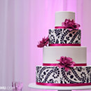 130x130 sq 1394738092033 paisley cake with sugar dahlias in fuschi