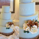 130x130 sq 1394738107615 robins egg blue cake with sugar flower