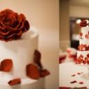 130x130 sq 1394738129677 sugar rose and cascading petals cake   du