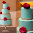 130x130 sq 1395164076831 teal and gold indian wedding cake   buttercrea