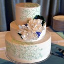 130x130 sq 1395164153528 mint green floral cake with sugar gardenia