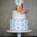 130x130 sq 1402459735562 soft pastel wedding cake with sugar flowers 1