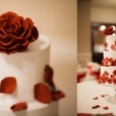130x130 sq 1432001850371 sugar rose and cascading petals cake   duo