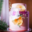 130x130 sq 1432001861746 bright painted cake with wafer flowers and string