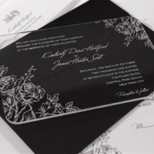 220x220 sq 1398894515581 acrylic wedding invitation set blosso