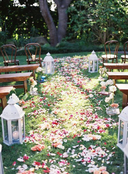 Shabby Chic Multicolor Aisle Markers Country Fall Garden ...