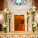 We love this all-white chuppah for an indoor wedding.