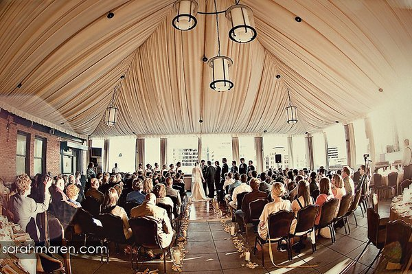 Indoor Ceremony Decor, Wedding Ceremony Photos By Kate