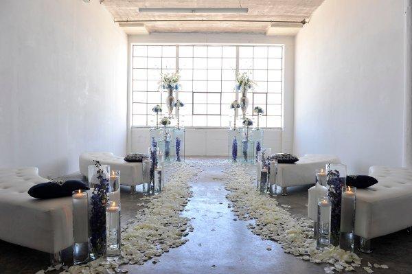 Indoor Ceremony Decor, Wedding Ceremony Photos By