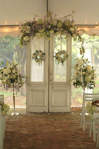 Altar arch decor wedding ceremony photos by haywood for Altar wall decoration