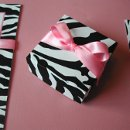 Zebra Print Artistic Gift & Favor Boxes w/Satin Ribbon by 3 Girls Print Design. View More Colors & Style Options Here: http://3girlsprintdesign.wix.com/3girls#!gift-boxes/c161y