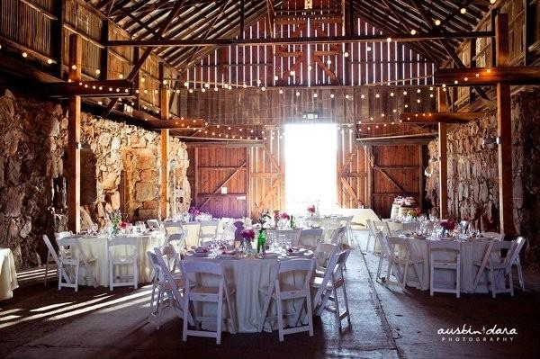 An Indoor Rustic Ceremony: Rustic Venue Ideas, Wedding Reception Photos By Austin