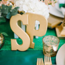 Emerald and gold tablescape.