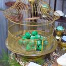 Emerald green truffle display.