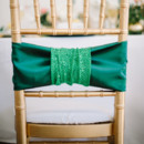 Emerald green chair decor.