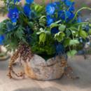 Sapphire blue floral centerpiece.
