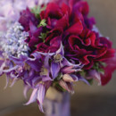 Ruby and light purple bouquet.