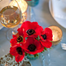 Red anemone centerpiece.
