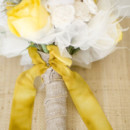 Golden yellow bouquet ribbon.
