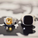 Citrine and onyx rings.