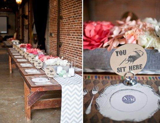 table & place setting ideas, wedding reception photosrockrose