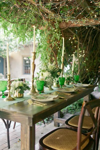 Emerald Green Decor , Wedding Reception Photos by Andi ...