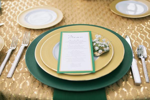 Emerald Green Decor Wedding Reception Photos By Lane