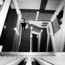 130x130 sq 1458231878649 bride and groom stairs black and white