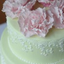 130x130 sq 1469795362744 peony vintage lace cake
