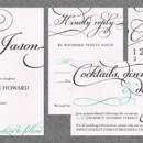 Bella Wedding Invitation: This alluring and elegant square wedding invitation design features fancy, frilly swashes from one of our favorite script fonts. It is sure to sweep your guests off their feet! As with all of the designs from TGK, you can choose your ink colors and paper color to make the perfect wedding invite!