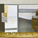 130x130 sq 1372795356891 bliss modern dahlia pocket wedding invitation