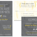 Woodgrain Wedding Invitation: With its fun, free-spirited elements, the Woodgrain Wedding Invitation is a lovely choice for casual, outdoor or woodland-themed events! The featured pattern is riddled with subtly heart-shaped knots! Change the paper and ink colors to suit your perfect day.