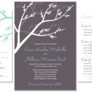 Winterberry Wedding Invite: This playful, modern wedding invitation design features branches and berries. It is perfect for both winter and holiday celebrations!