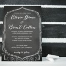 This trendy Chalkboard Wedding Invitation possesses elegant lines and artsy charm! We think it looks pretty sweet in our other TGK colors as well! Customize your Chalkboard Invite with your own colors, fonts, and papers.
