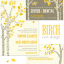Birch trees, simply put, are enchanting and romantic regardless of the season! Our Birch Wedding Invite showcases layers of branches and varying shades of leaves for a stylish pop of color. This design is great for brides looking for several colors on their wedding invitations. Choose your favorite paper, fonts and inks to make it just right for you!