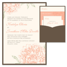 220x220 sq 1372818257602 peony wedding invitation with pocket