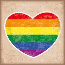 220x220 sq 1501265016188 41020861 rainbow heart on the vintage background