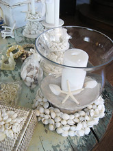 220x220 1383166274054 beach theme centerpeice white shell wreat